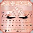 Rose Gold Drop Princess Keyboard Theme