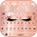 Rose Gold Drop Princess Keyboard Theme