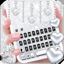 Silvery Glitter Keyboard Theme