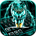 Thunder Neon Wolf Keyboard Theme