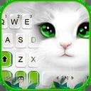 White Cute Cat Keyboard Theme