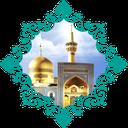 Walking in the shrine of Imam Reza