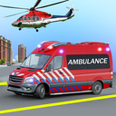 Heli Ambulance Simulator 2020: 3D Flying car games