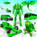 Formula Car Robot Transform - Flying Dragon Robot