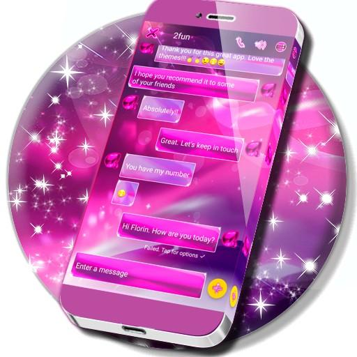 Pink Crystal SMS Theme for Android - Download | Cafe Bazaar