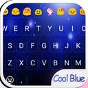 Cool Blue Love Emoji Keyboard