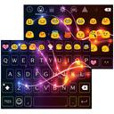 Neon Electric Emoji Keyboard