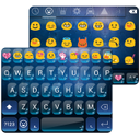 Rain Glass Emoji Keyboard Skin