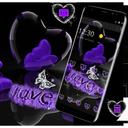Violet Crystal Heart Love Valentine Theme