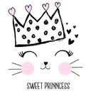 White Princess Kitty Cartoon Sweet Theme