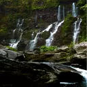 والپیپر زنده آبشار + ویجت ساعت HD