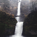 والپیپر زنده آبشار و پل  +  ساعت