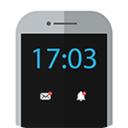 نمایش ساعت روی صفحه گوشی