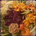 میوه آرایی با طرح گل (تصویری)