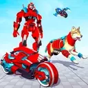 Dog Robot Transform Moto Robot Transformation Game