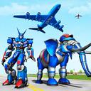 Police Elephant Robot Game