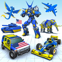 Police Elephant Robot Game: Police Transport Games
