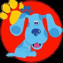 رنگ آمیزی کودکانه سگ آبی