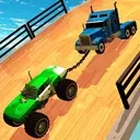 Double Impossible Mega Ramp 3D - Car Jump & Drift