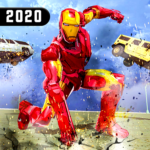 Superhero Iron Robot Rescue Mission 2020