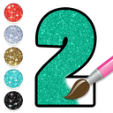 Glitter Number Coloring and Drawing Book