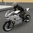 Police Motorbike Road Rider