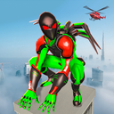 Frog Spider Robot Hero: Ninja Robot War Games