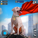 Flying Super Hero Dog City Animal Rescue