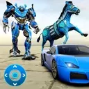Zebra Robot Car Game: Car Transform Robot Games