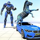 Zebra Robot Car Game: Car Transform Robot Games