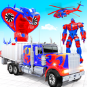 Grand Police Truck Robot War Transform Robot Games