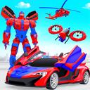 Police Drone Robot Car Game