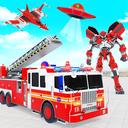 Firefighter Robot Transforming Truck Robot Games