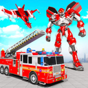Firefighter Robot Transforming Truck Robot Games