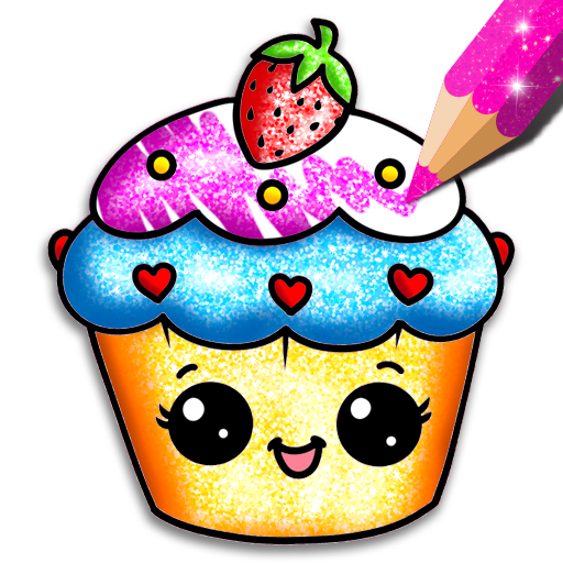 Cupcakes Coloring Book Glitter