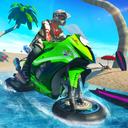 Water Surfer Bike Beach Stunts Race