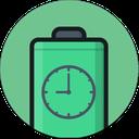 نمایشگر زمان و باتری