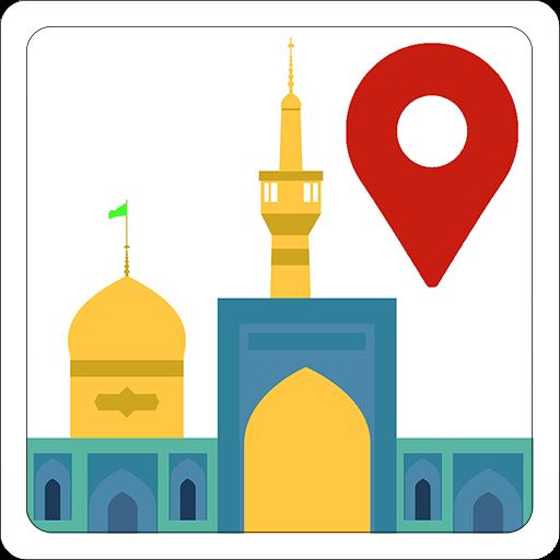 عکس با کیفیت نقشه مشهد