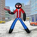 Real Stickman Ninja Rope Hero Spider: Vice Town