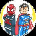 کمیک لگو اسپایدر من + سوپرمن