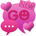 Theme Hearts for GO SMS Pro