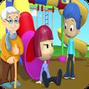 بازی مراقبت پدر بزرگ و سه قلوها