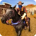 Wild West Town Sheriff Mounted Horse Shooting Game