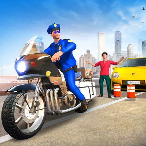 City Gangster Chase - Police Bike Racing Game