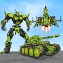 US Army Robot Transformation Jet Robo Car Tank War