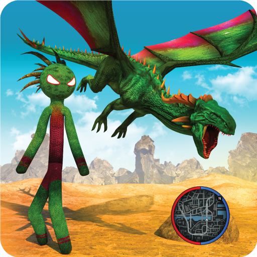 Dragon Stickman Transform Shooting Games
