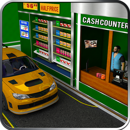 Drive Thru Supermarket: Shopping Mall Car Driving