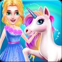 Fantasy Princess Unicorn Caring