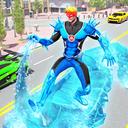 Flying Police Robot Snow Storm Hero: Crime City