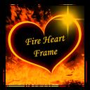 قاب عکس قلب و آتش با متن دلخواه